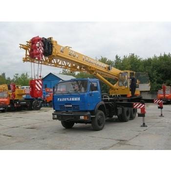 Автокраны Галичанин КС-55713 грузоподъемность 25 тонн; описание, технические особенности, характеристики.