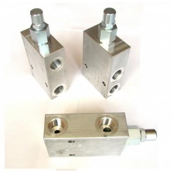 Клапан тормозной сдвоенный CBCG-LJN-YEV для кранов-манипуляторов и гидроманипуляторов