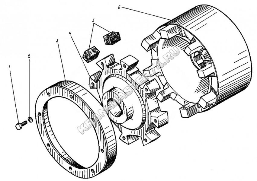 Муфта тормозная (17-06040) применение вкладыша 17-06040-33