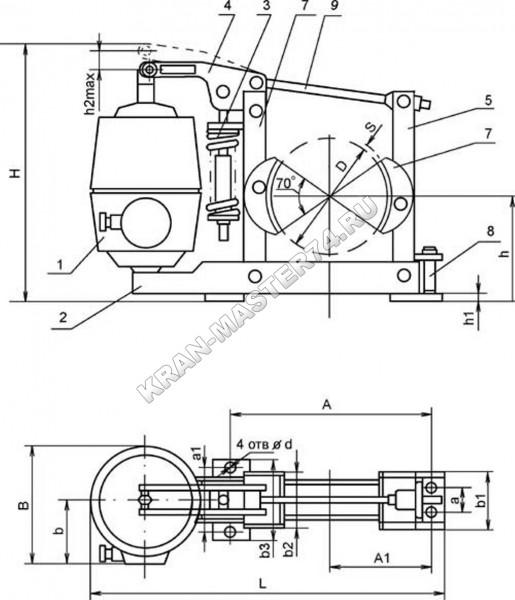 Тормоз ТКГ-200М