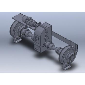 Механизм передвижения для железнодорожных кранов КДЭ-163, КДЭ-253, КЖДЭ-16, КЖДЭ-25, КЖ-461, КЖ-561, КЖ-462, КЖ-562, КЖ-662.