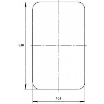 Стекло боковое Челябинец (830х395) кабины крановщика