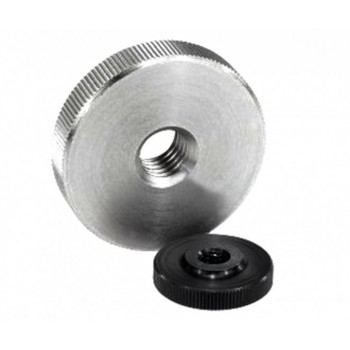 Гайки с накаткой низкие, по DIN 467 для рычагов управления промышленного оборудования, контрольного и медицинского оборудования, приборов (сталь)