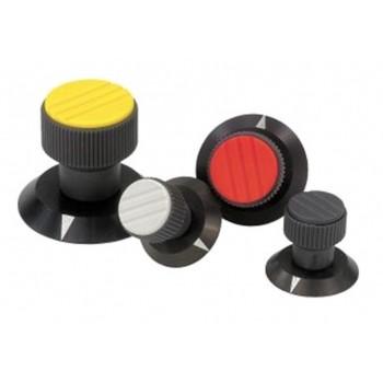Ручки регулировки с накаткой из пластика для рычагов управления промышленного оборудования, контрольного и медицинского оборудования, приборов (термопласт)