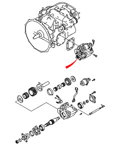 Коробка отбора мощности (КОМ) для Hyundai HD-120