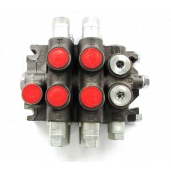 """Гидрораспределитель RS 212-1712-01015 (левый, схема """"Инман"""") с управлением под тяги, 2-х секционный, 3 дополнительных клапана в рабочих секциях"""