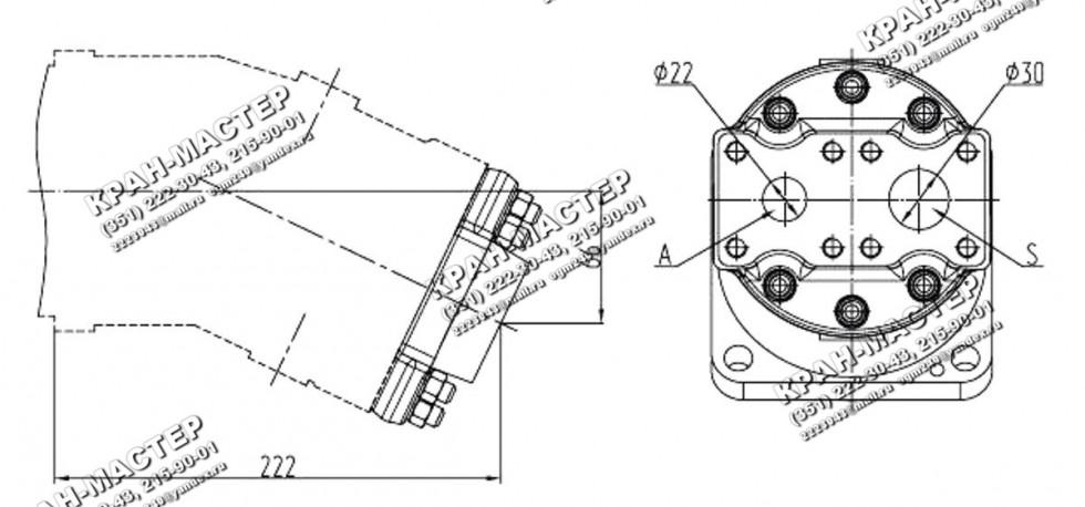 Гидронасос 310.3.56.05.06 нерегулируемый аксиально-поршневой с наклонным блоком