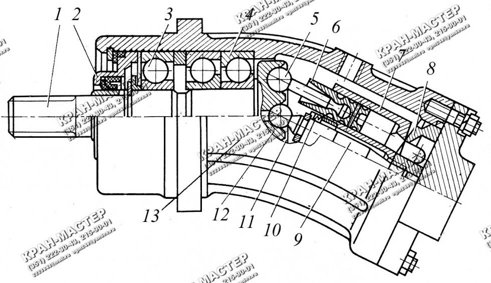 Гидромотор нерегулируемый (реверсивный, шлицы) 310.12.00.00