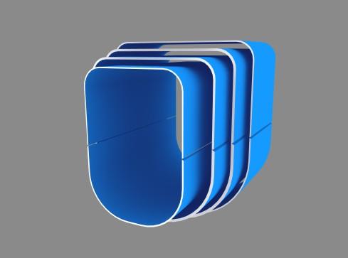Компьютерное фото сечения овоидной стрелы