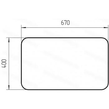 Стекло верхнее (люк) Челябинец (670х400) кабины крановщика