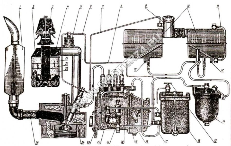 схема питания д 245
