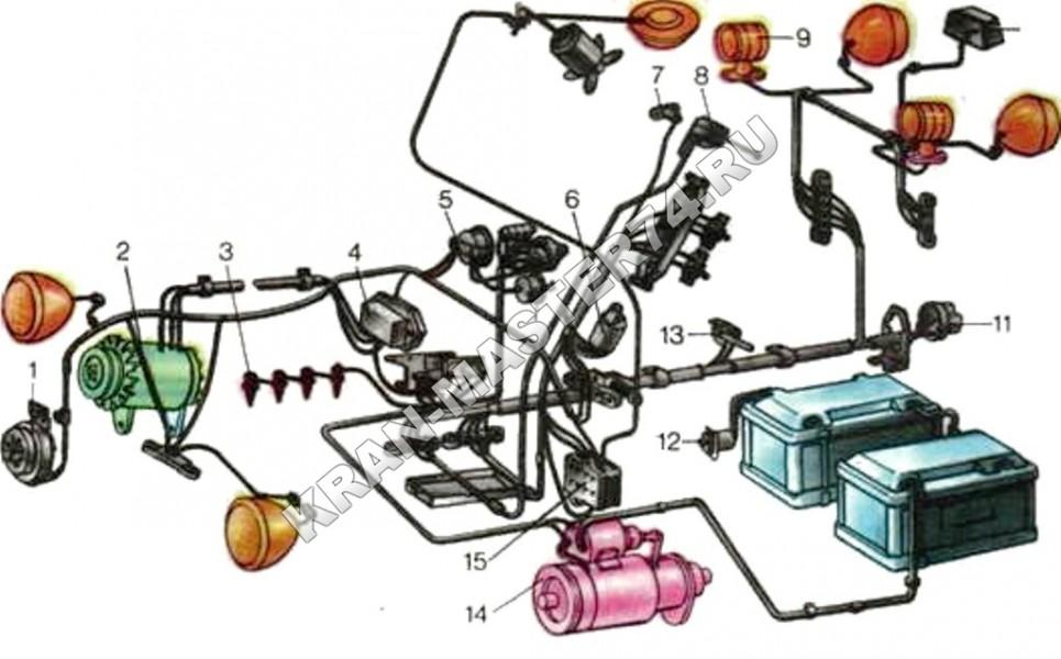Схема проводки стартера мтз 80