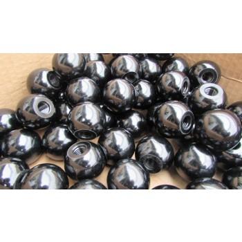 Ручка шаровая din 319 черный пластик для рукояток и рычагов рычагов управления приборов, рубильников, автомобилей, промышленного и инструментального оборудования.