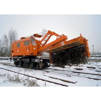 Устройство путеочистительное 53-320000-000 (щетка) для железнодорожных кранов КЖДЭ-16, КЖДЭ-25, КЖ-461, КЖ-561, КЖ-462, КЖ-562, КЖ-662