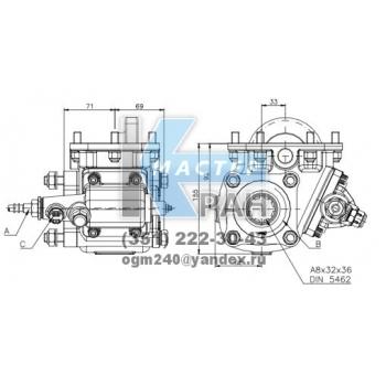 Коробка отбора мощности FHER ZF боковая, механика, 1:1,175